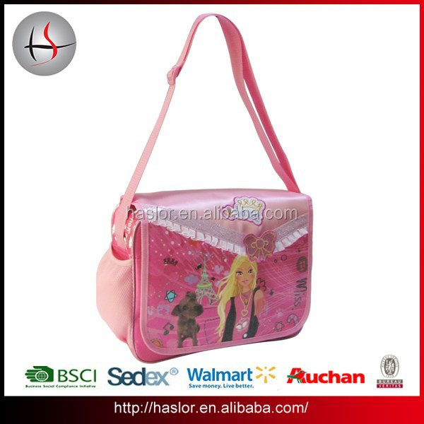 Newest beauty girl pattern printing side girls shoulder bags for school