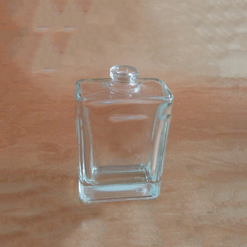 transparent glass square perfume scent fragrance bottle