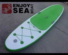 2016 high quality stand up boards green inflatable with handle fin!