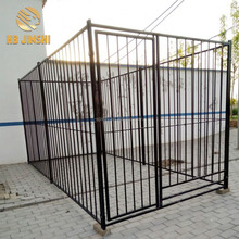 Welded black Large outdoor plastic coated dog kennels