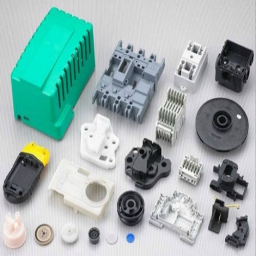 Low cost injection moulding of polymers process