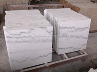 High Polished China White Marble with grey veins