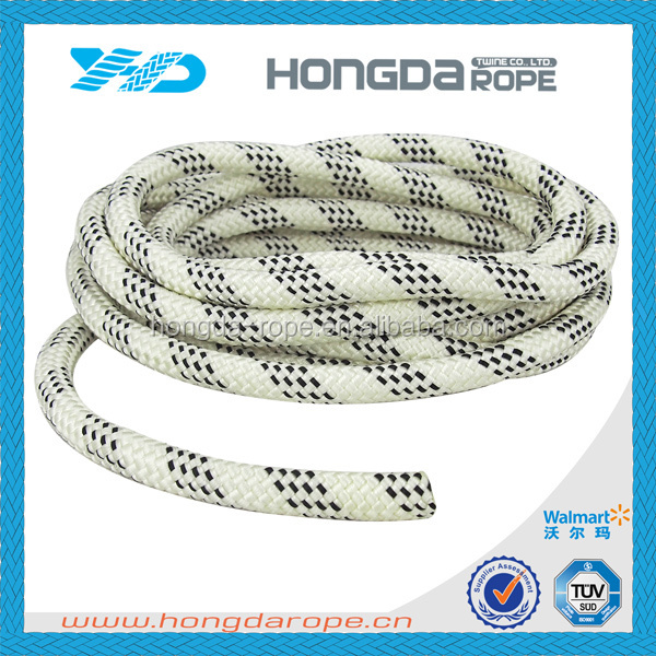 "Yacht Braid Double Braided Polyester Rope 1/4"" x 500' , sailboat rope"