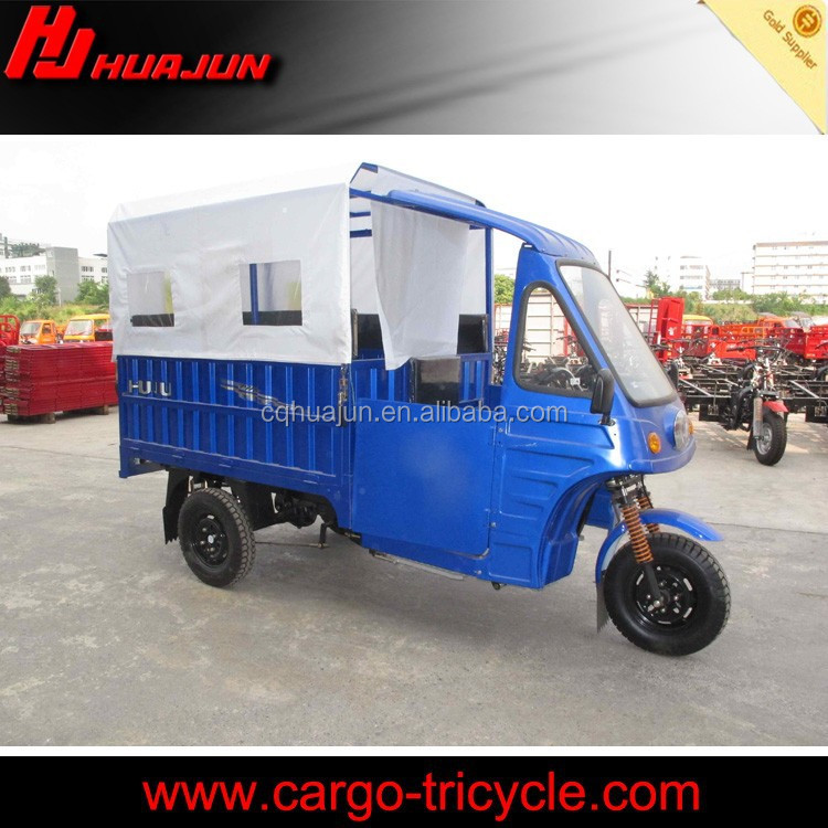 Semi-cabin gasoline 200cc three wheel motorcycle moto taxi for sale