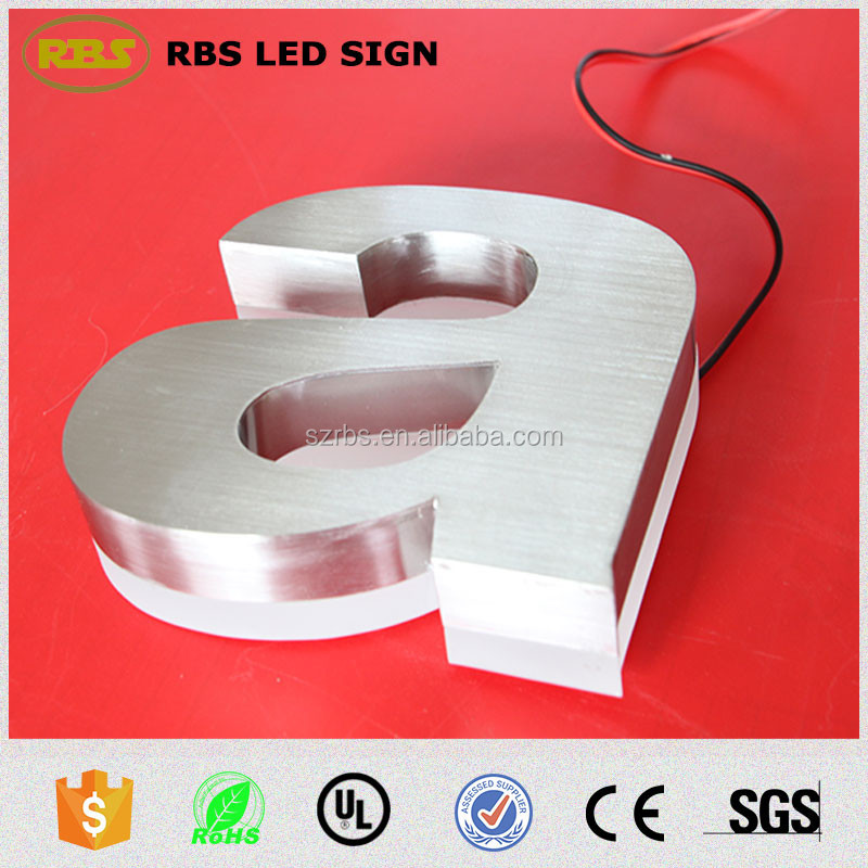 Advertising 3d letter sign acrylic backlit led channel letters