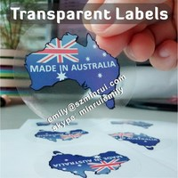 Custom clear vinyl waterproof custom sticker, transparant logo stickers, clear glossy labels