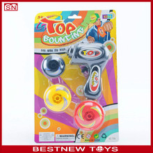 Kids Hand Screw Flashing Plastic Spinning Top Toy
