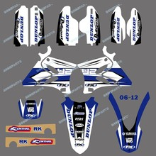 DST0007TEAM GRAPHICS&BACKGROUNDS DECALS STICKERS Kits FOR YAMAHA YZ125 YZ250 2002 2003 2004 2005 2006 2007