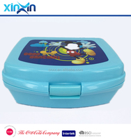 PP portable plastic children food containers lunch box kids with cartoon printing