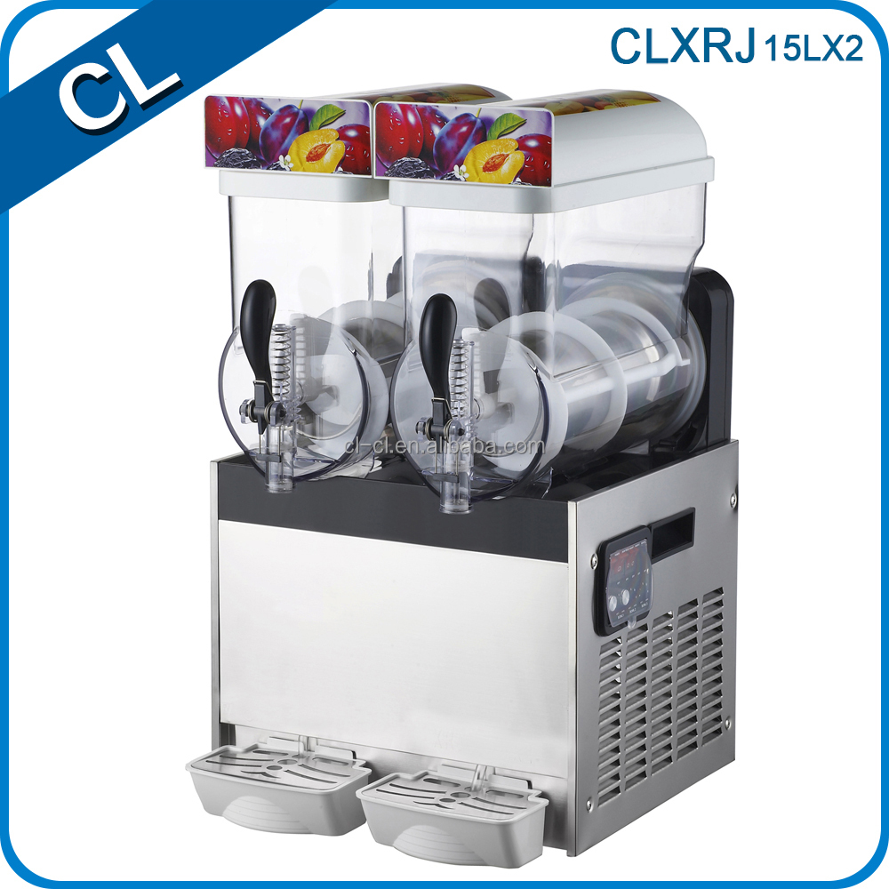 CL high quality double tank CE approved with import compressor durable slush mug ice machine rental