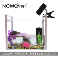 Nomo hot selling transparent turtle aquarium glass breeding cage fish tank