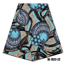 2017 New African Wax Prints Fabric with Ankara women clothing wax pattern London 6 yard fabrics for party