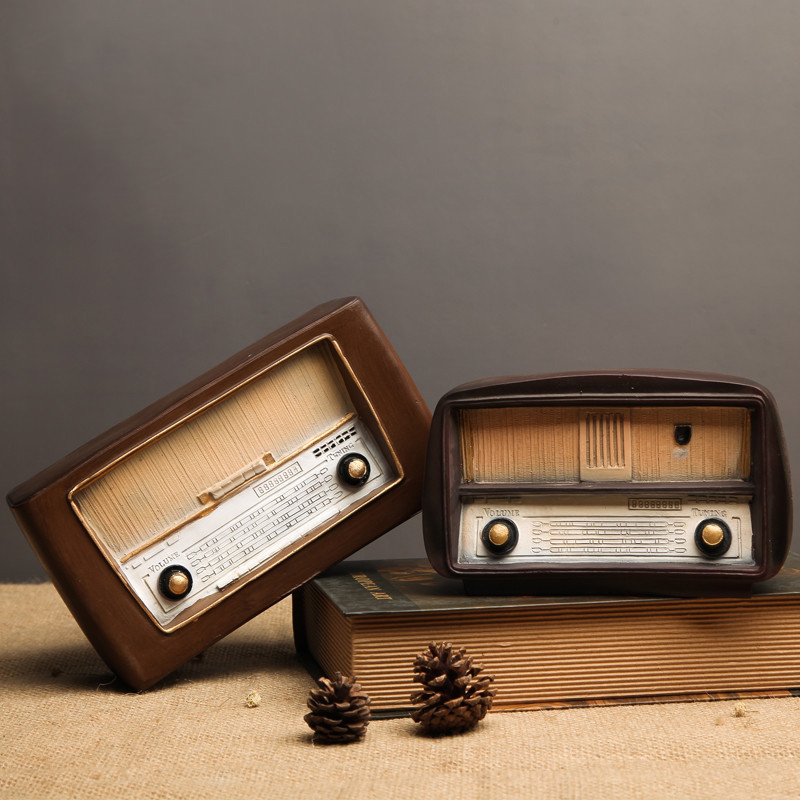 Resin Radio Model Nostalgic Ornaments Vintage Radio Craft Gift Antique model