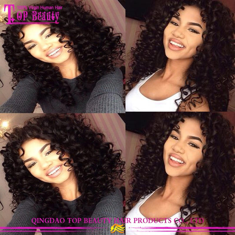 High Quality Grade 7A Virgin Human Hair U Part Wig Afro Kinky Curly U Part Wig