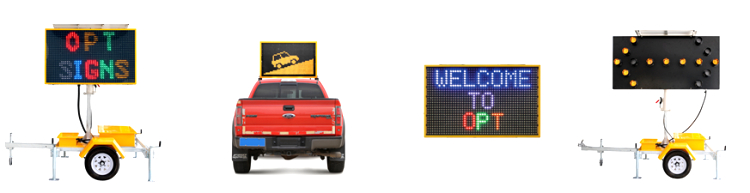 Multi Language Display Solar Powered Traffic Message Sign Board Traffic Control Sign Portable Road Sign Trailer