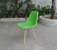 high quality DSW leisure fabric covered plastic chair/FRP chair