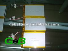 GEB high quality rechargeable lithium polymer battery cell 3.7V 5000mAh 6767100