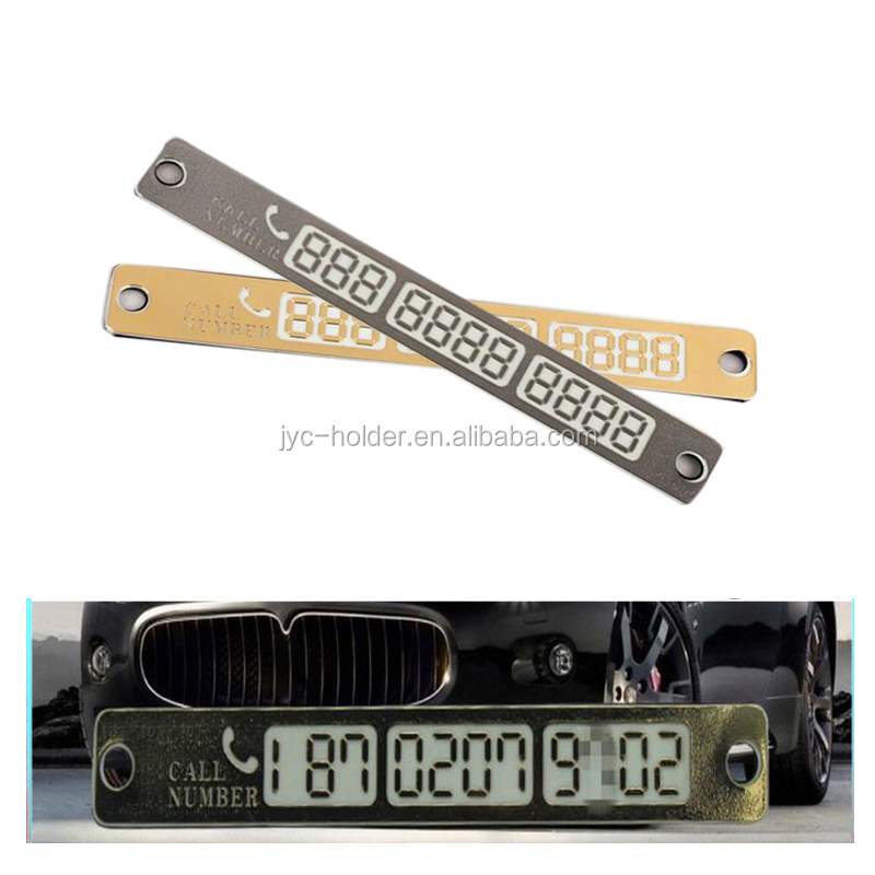 T0C Temporary Car Parking Card Telephone Number Card Notification Night Light Plate Car Styling Phone Number Card