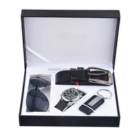 genuine leather wallet watch sunglass gift set for men