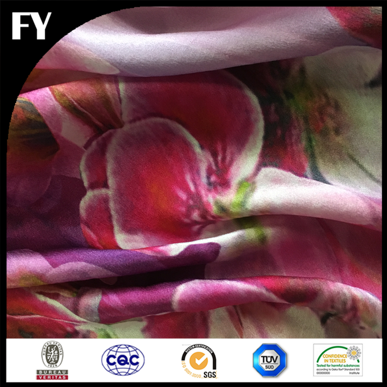 Factory digital print high quality japanese silk fabric