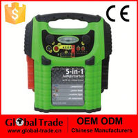 163555 5 in 1 100PSI Air Compressor 8 LED Work Light 2xDC 5V 500 MA USB Socket output Jump Starter