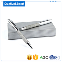 China Stationery Factory Cheap Promotional Silver Gel Roller Ballpoint With Black Ink OEM Metal Office Pen/ Writing Pen