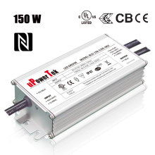 150W NFC Programmable IP67 waterproof 0-10V PWM Timer Dimmable LED driver with 12v aux dim off function