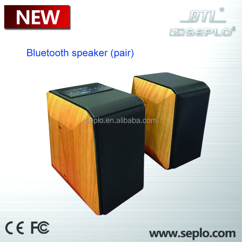 Home theather bluetooth Speaker B-42 , bamboo bluetooth speakear , high quality speaker in pair