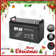 Solar battery 24V power pack , AGM 12V 120Ah deep cycle battery