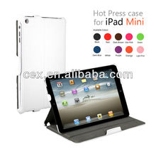 For Apple iPad Mini White Folio Stand Hard PU Leather with Built-in Stand Case
