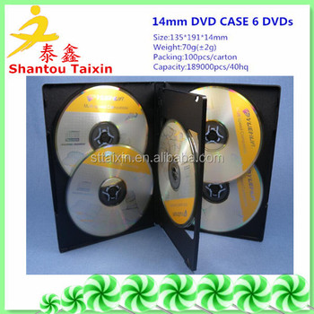 hgih quality 14mm multi dvd box for 5/6 dvds
