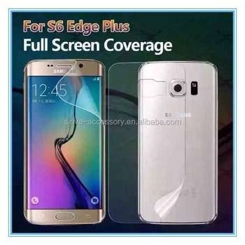 High Clear 3D PET Full Cover Screen Protector For samsung s6 edge plus with design