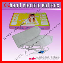 new salon use far infrared paraffin treatment electric heated mittens