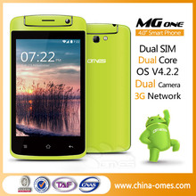 "OMES MG1 Cheap 3G 4"" 4inch 4 inch MTK6572 Dual Core 3G Android Best Selling Mobile Phone"