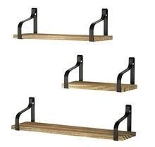 Floating <strong>Shelves</strong> Wall Mounted Set of 3, Rustic Wood Wall Storage <strong>Shelves</strong> for Bedroom, Living Room, Bathroom and so on