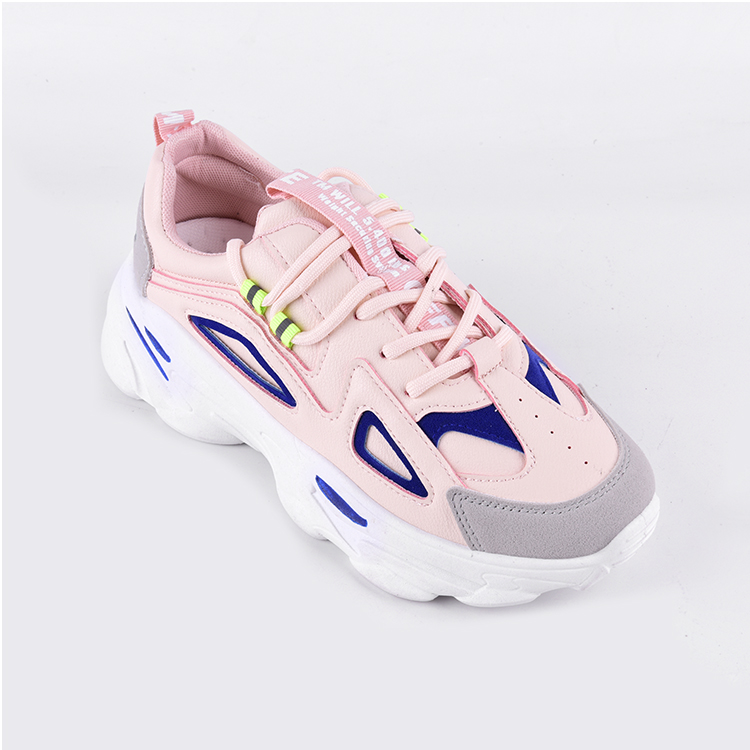 Wearable in all seasons full leather non-slip anti-dirty inner height women lace up casual shoes
