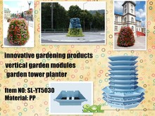 Stackable Vertical Gardening Tower , Vertical Gardening Planter Pots
