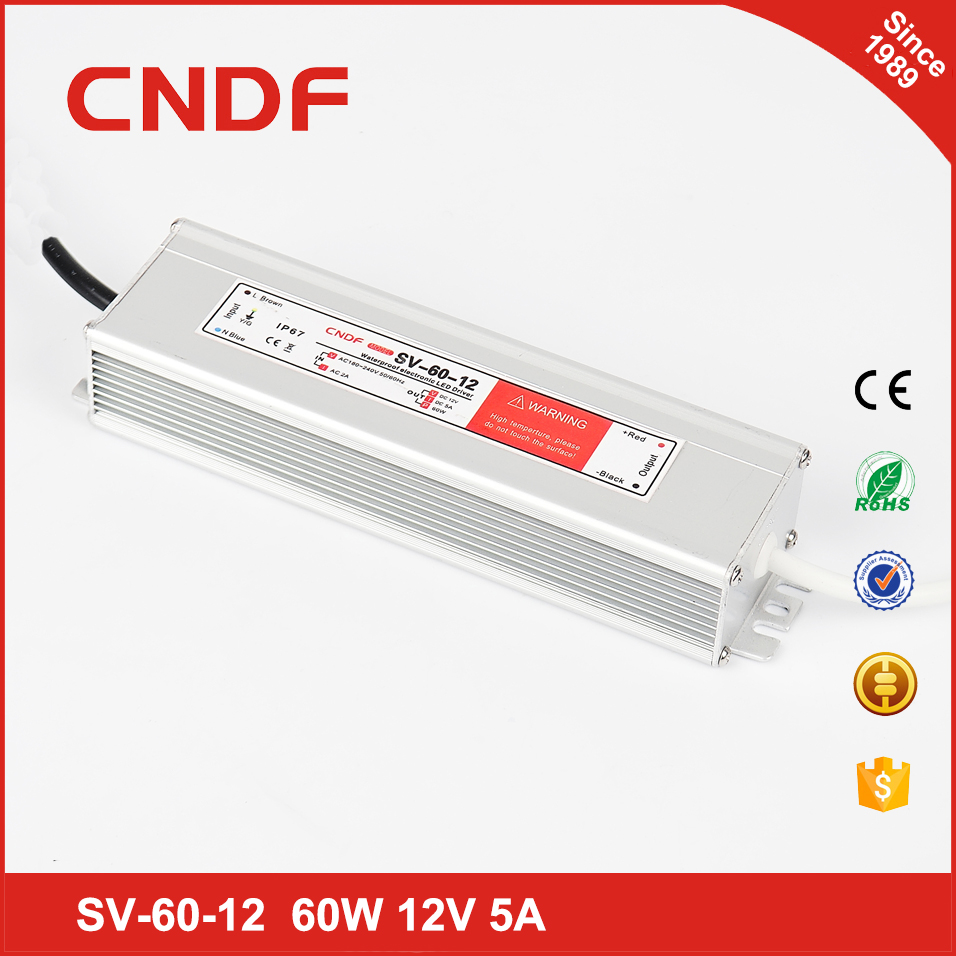 High quality SV-60-12 60watts 12v led driver waterproof led bulbs switching power supply