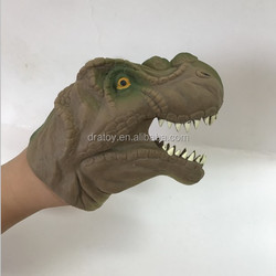 cheap tpr soft dinosaur/shark/snake hand rubber animal puppets