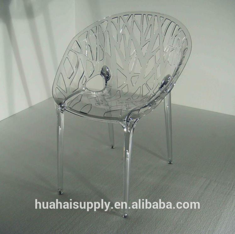 Acrylic net back chair for coffee shop