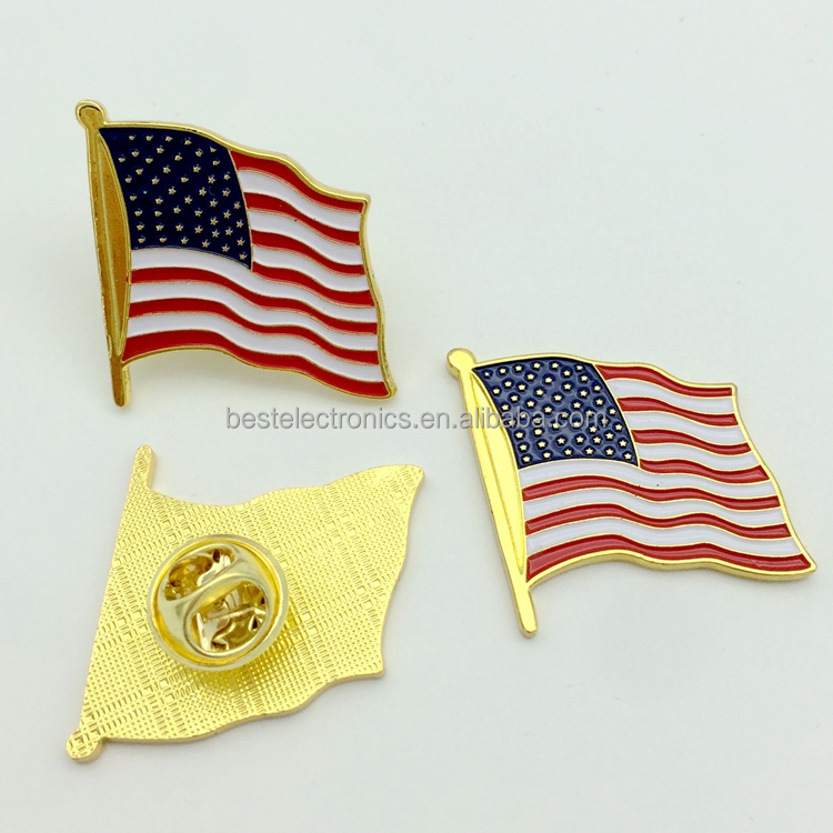 America USA Pin Badge Enamel Country Flag