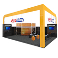 Detian Display custom exhibition two level booth double deck stand
