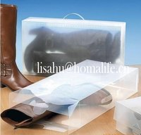 Mini nonwoven shoe organizer with lid