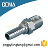 13011Carbon Steel Straight Socketless Hose Fitting Swaged Hose Fitting BSPT Male stainless steel british style hose Pipe Fitting