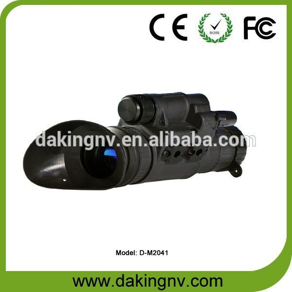gen 2+ monocular night vision riflescope head mounted weapon sight