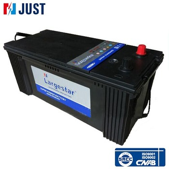 Maintenance free lead acid truck battery n150 12v 150ah