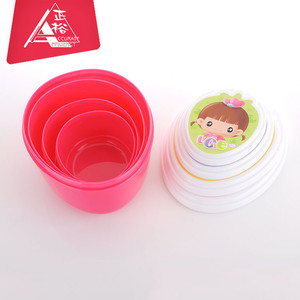 New design transparent plastic lunch box mini food insulated storage container box