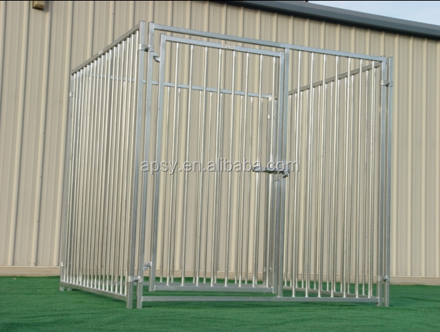 6'X6' European style welded steel tubing dog kennel fence with solid roof