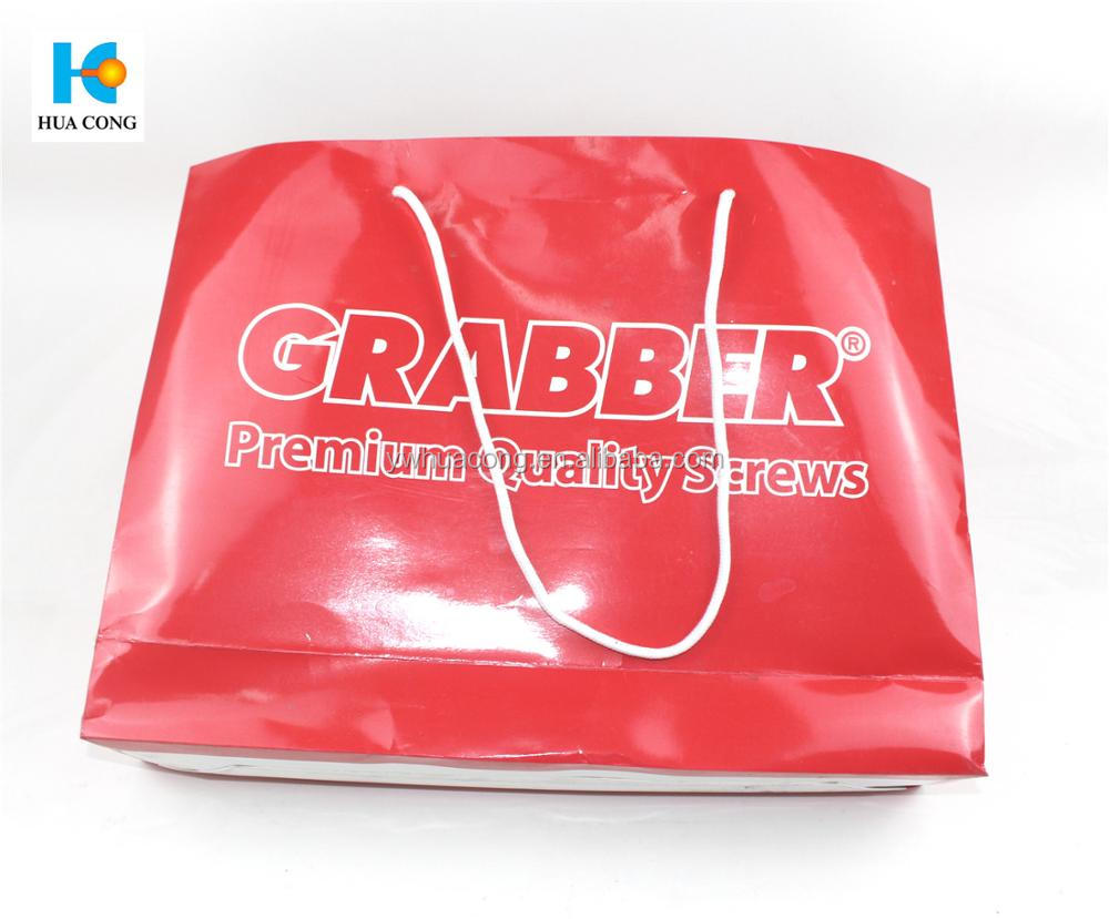 cheap and high qualtity custom printed cheap paper bag with handle