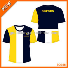 Type Z0045 hot sales strip jointing color block tshirt for logo custom
